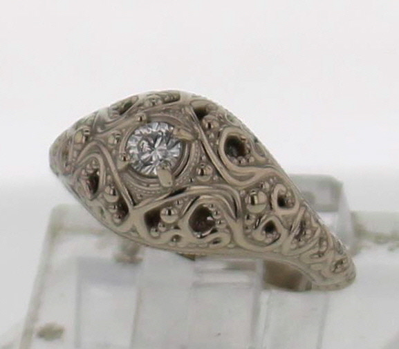 1424c9080db3d 14k Gold and Diamond Ring
