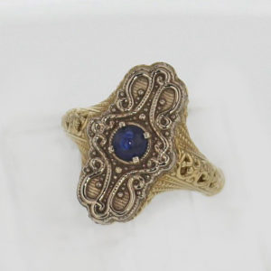 14k Yellow and White Gold Sapphire Ring 997