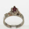 14k White w Rose Gold Ruby Ring $669