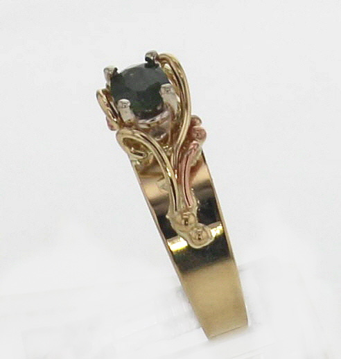 14k Yellow Gold with Oval Cut Natural Green Sapphire 699