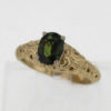 14k Yellow Gold and Natural Gree Sapphire Ring 887