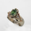 14kw Gold and Fancy Green Marquise Cut Diamond Ring $2399