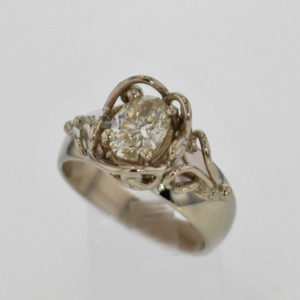 14kw Oval Cut Diamond Ring $2,879