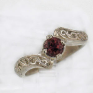 Sterling Silver and Grape Spinel