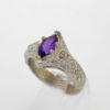 Sterling Silver and Natural Amethyst Ring