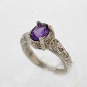 SS and Amethyst Ring