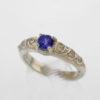 Sterlg Silver and Natural Tanzanite Ring