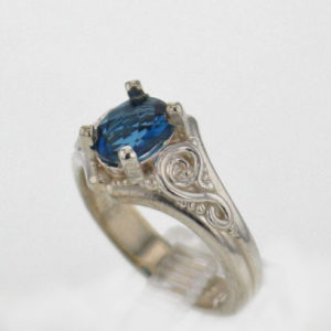 SS and Natural Topaz Ring
