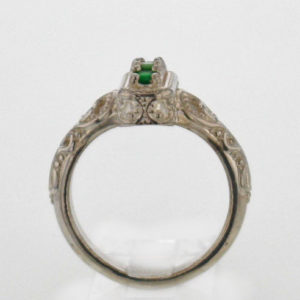 Sterling Silver and Natural Tsavorite Garnet Ring