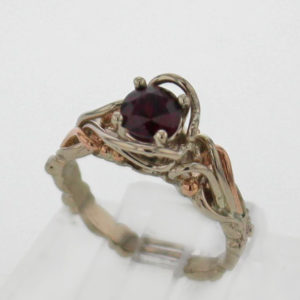 14k White Gold & Natural Pyrope Garnet $599