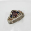 14kw Gold Color Shift Garnet w Sapphires Ring