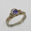 14k White w Rose Gold and Tanzanite Ring $467