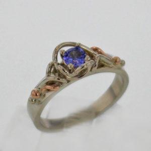 14k White w Rose Gold and Tanzanite Ring $467