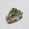 14kw Gold Mint Tourmaline and Diamond Ring