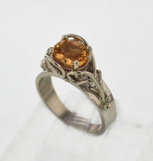 14k White Gold & Golden Topaz Ring $1,127