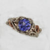 14k White w Rose Gold Natural Tanzanite Ring