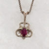 14k White Gold and Ruby Pendant
