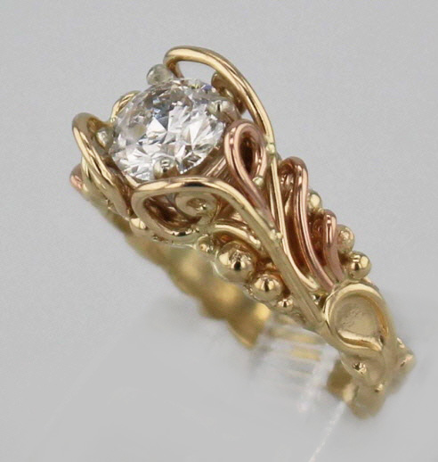 14k Yellow w Rose Gold and Diamond Ring $6,297