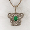 14k White Gold and Emerald Pendant $587