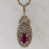 14kw Gold and Ruby Pendant $627