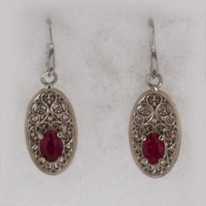 14kw Gold and Ruby Earrings $1287