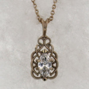 14k White Gold and Diamond Pendant $1,169