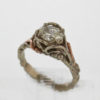 14k White with Rose Gold Diamond Ring 3187