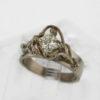14kw Gold and Princess Cut Diamond Ring 4287