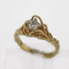 14k Yellow Gold and Diamond Ring 1079