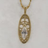 14k Yellow Gold and Diamond Pendant $1099