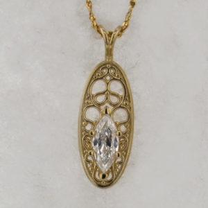 14k Yellow Gold and Diamond Pendant $1099