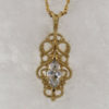 14k Yellow Gold and Natural Diamond Pendant $1,169
