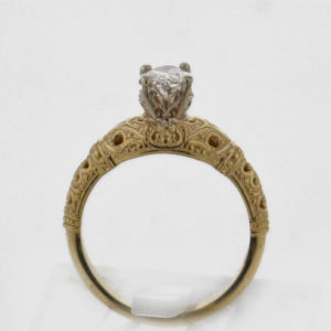 14k Yellow with White Gold Diamond RIng $3,277