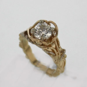 14k Yellow Gold and 1.51 Carat Diamond Ring