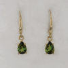 14k Yellow Gold Green Tourmaline Earrings