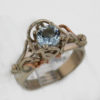 14kw Aquamarine Ring 687