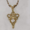 14k Yellow Gold and Diamond Pendant $759