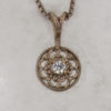 14k White Gold and Diamond Pendant $337