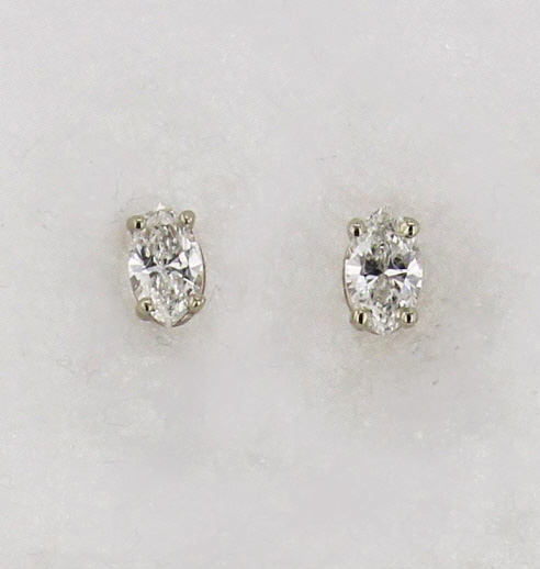 14kw Gold and Marquise Cut Diamond Post Earrings $ 1,087