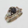 14k White w Rose Natural Color Shift Garnet and Diamond Ring $3,187