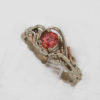 14k White W Rose Gold Natural Padparadscha Sapphire Ring $529