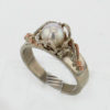 14k White Gold and Pearl Ring $617