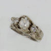 14kw Gold Pearl and Diamond Ring $997