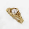 14k Yellow w White Gold Pearl Ring $437