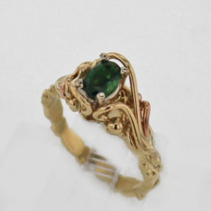 14k Yellow Gold Tourmaline Ring $487