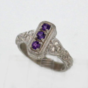 Sterling Silver and Amethyst Ring $129