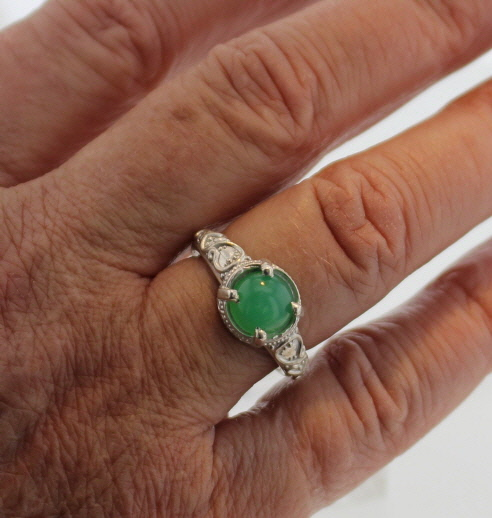 Sterling Silver and Chrysoprase Ring $137
