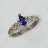 Sterling Silver and Natural Tanzanite Ring $129