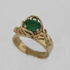 14k Yellow Gold and Emerald Ring $1239