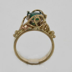 14k Yellow w Rose Gold Emearld Ring $1,239